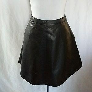 Tinley Road Vegan Leather Full Mini Skirt